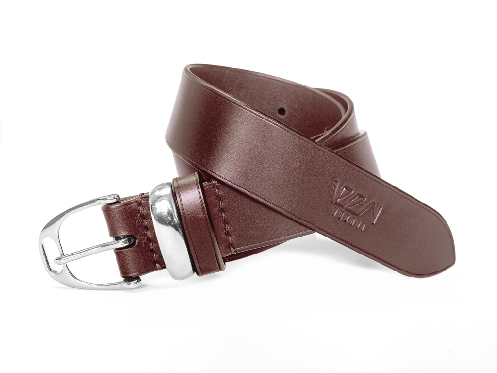 Horse fashion belt stirrup buckle | horse chestnut & silver