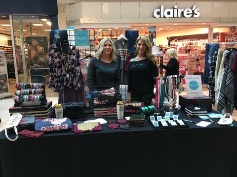 Nicole Marcellino with Josie Vonderau at the SouthPark Mall Bridal Show in a Strongsville, Ohio