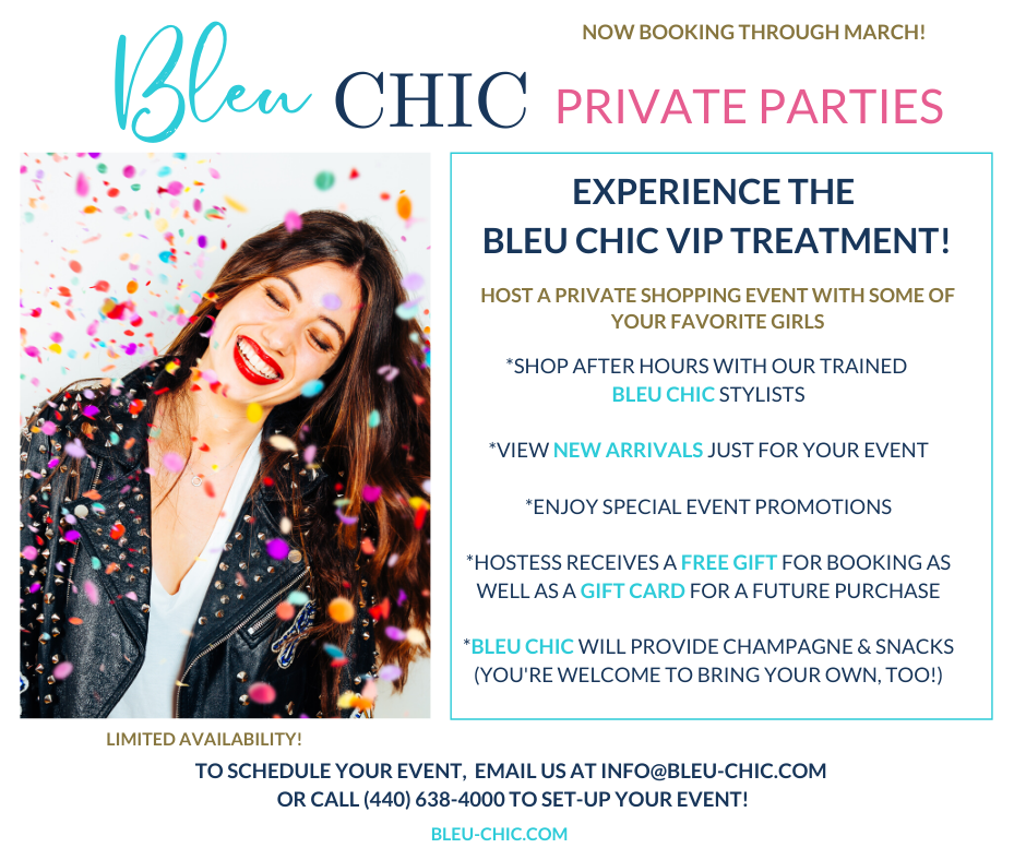 Bleu Chic Boutique private shopping parties