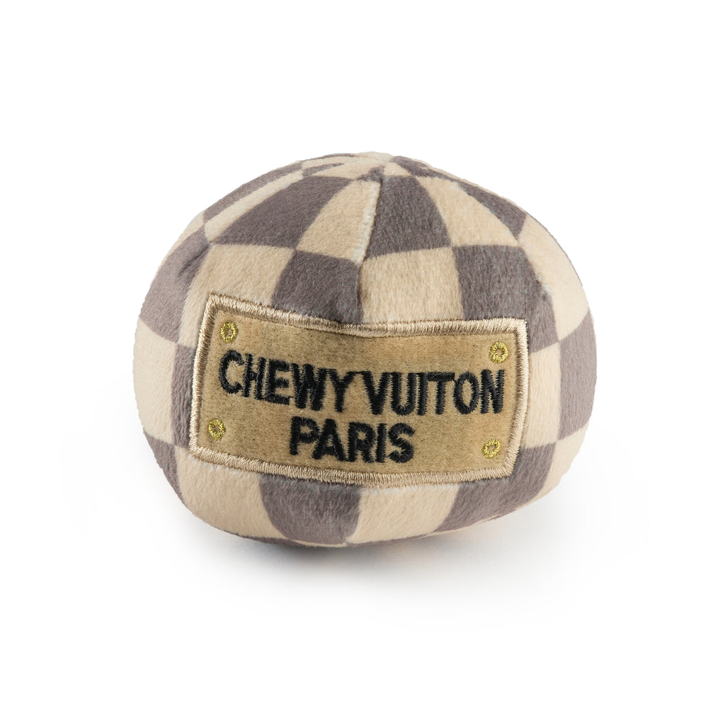 Checker Chewy Vuitton Ball - Small - Bleu Chic Boutique