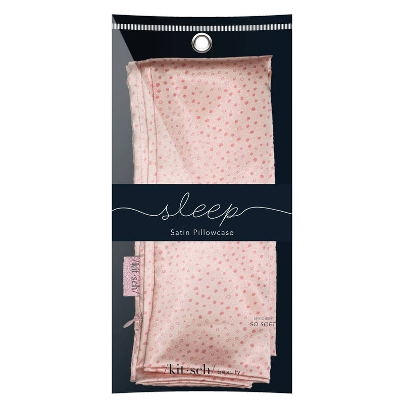 Micro Dot Satin Pillowcase - Kitsch - Bleu Chic Boutique