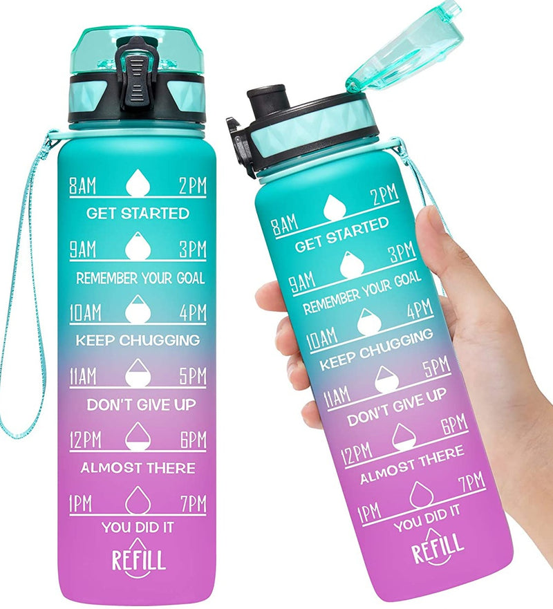 Motivational Water Bottle : Chasing Waterfalls - Bleu Chic Boutique