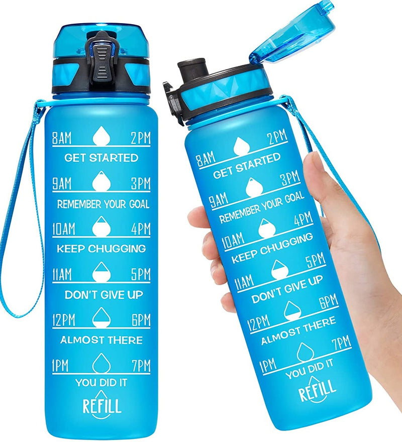 Motivational Water Bottle : Royal Bleu - Bleu Chic Boutique
