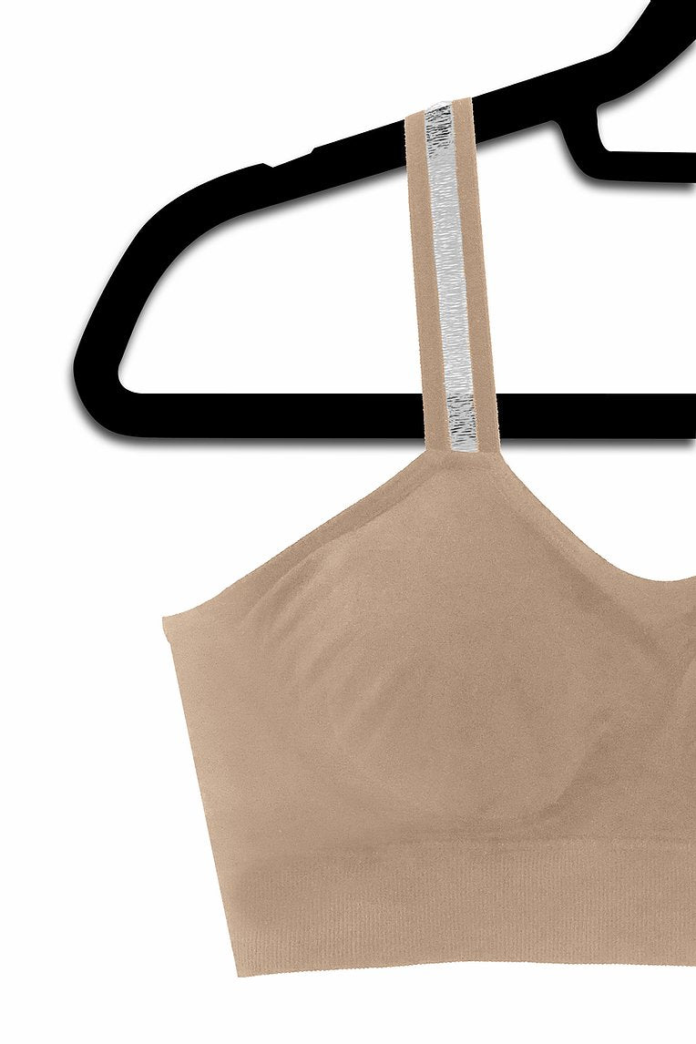 Sheer Straps Attached to Nude Bra - Bleu Chic Boutique