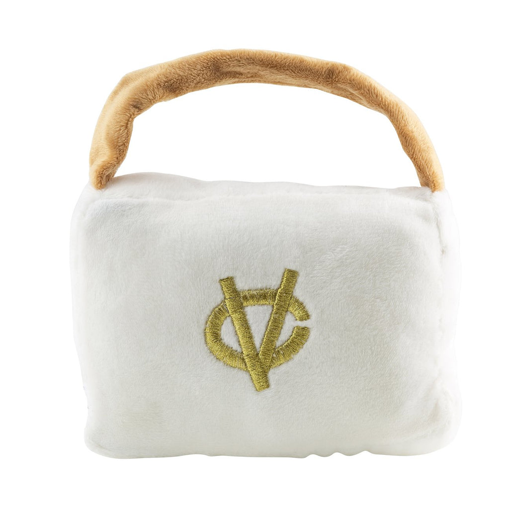White Chewy Vuiton Purses - Large - Bleu Chic Boutique