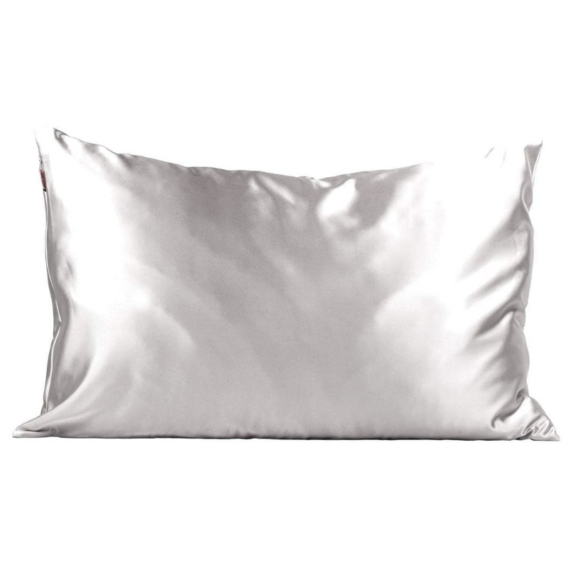 Silver Satin Pillowcase - Bleu Chic Boutique