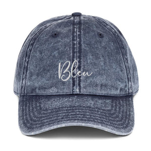 Bleu Chic Professionally Embroidered Vintage Cotton Twill Cap - Bleu Chic Boutique