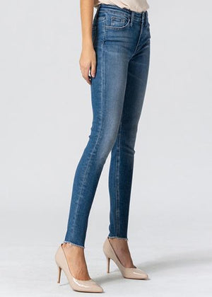 Vervet  by Flying Monkey Grounded Skinny Jean - Bleu Chic Boutique