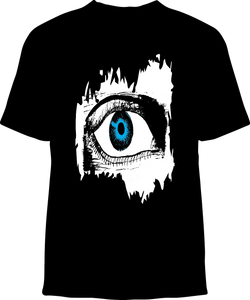 Skelebone Short Sleeve T-shirt, Blue Eye Front Print