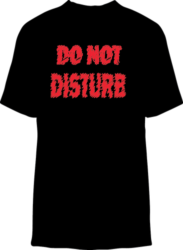 Skelebone Short Sleeve T-shirt, Do Not Disturb Front