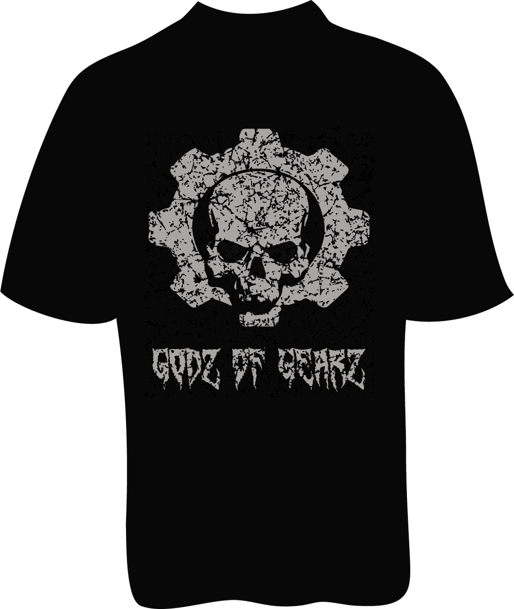Skelebone Short Sleeve T-shirt, Godz of Gearz Back Print Front Logo