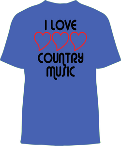 Short Sleeve T-shirt/ Love country white/black text