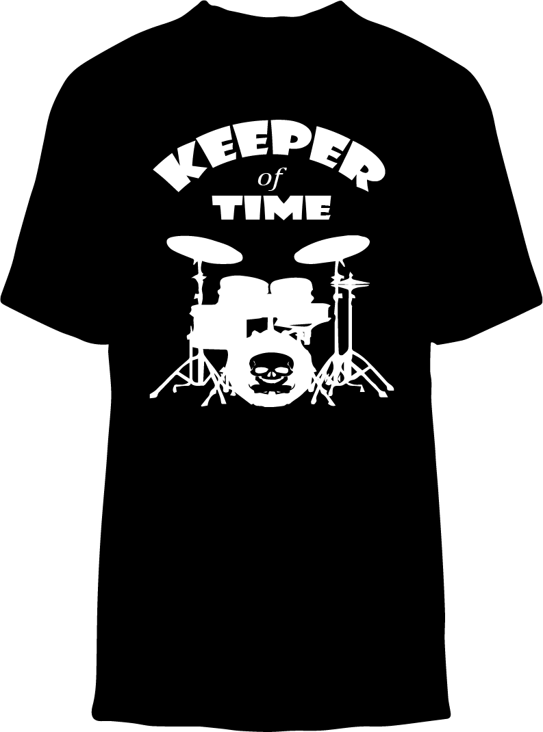 Skelebone Short Sleeve T-shirt, Keeper of Time Front Print