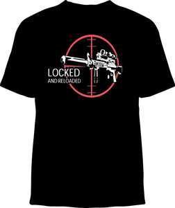 Skelebone Short Sleeve T-shirt, Locked and Loaded Front Print