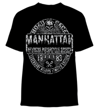 Skelebone Short Sleeve T-shirt, Manhattan Road Race Back Print Front Logo
