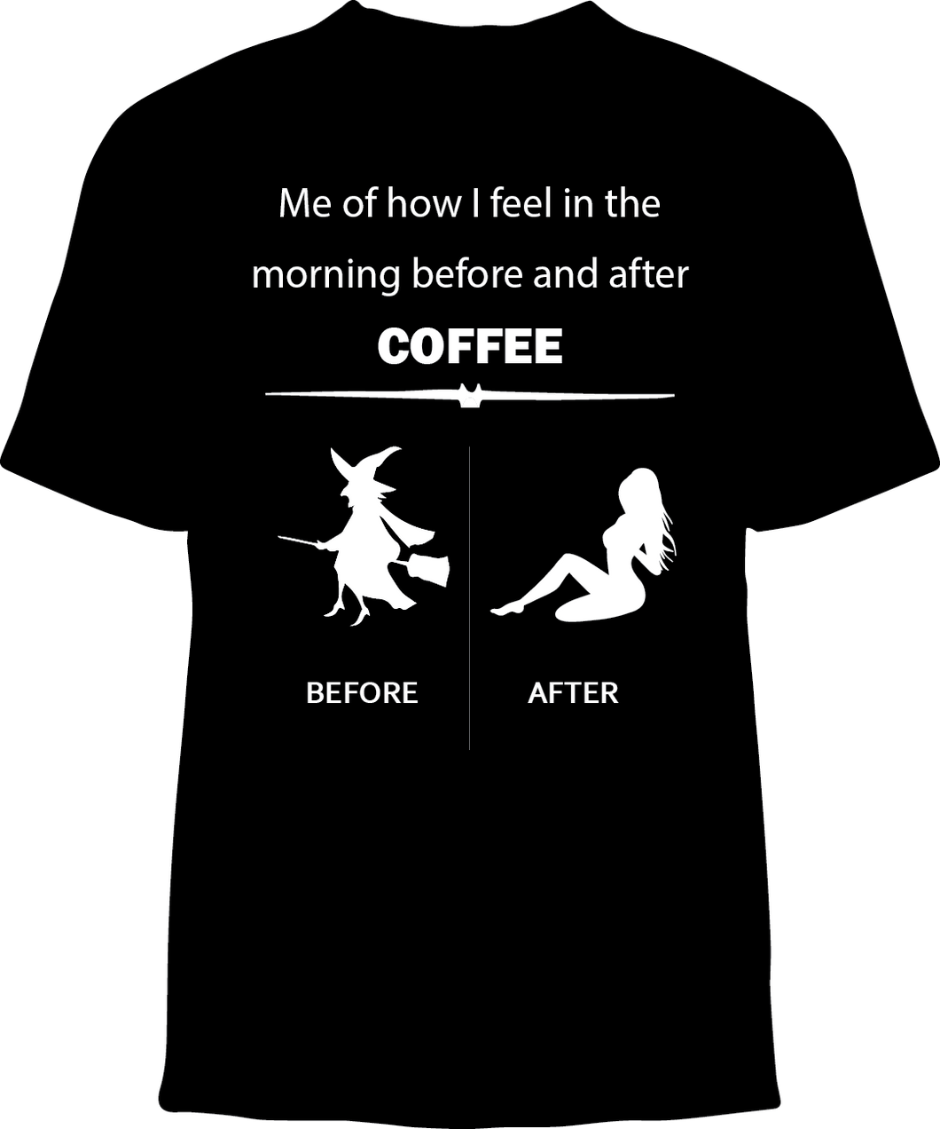 Skelebone Short Sleeve T-shirt, Morning Coffee Front Print
