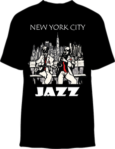 Skelebone Short Sleeve T-shirt, New York City Jazz Front Print