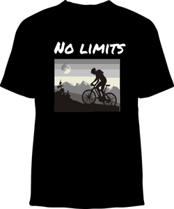 Skelebone Short Sleeve T-shirt, No Limits Front Print