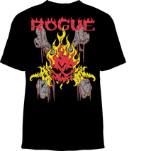 Skelebone Short Sleeve T-shirt, Rogue Back Print Logo Front Print