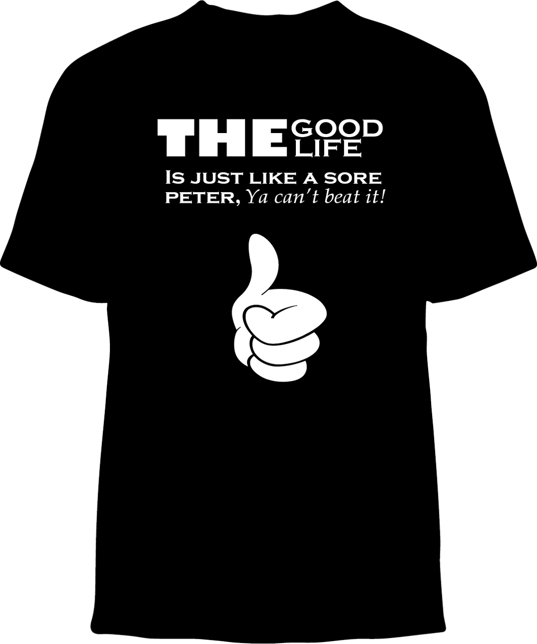 Skelebone Short Sleeve T-shirt, Good Life Front Print