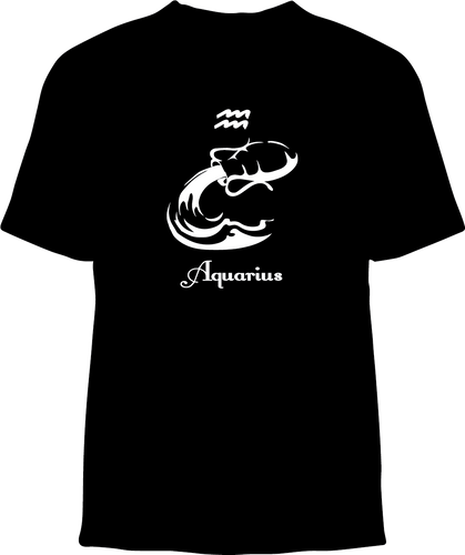 Skelebone Short Sleeve T-shirt, Aquarius Jan 20 - Feb 18 Front