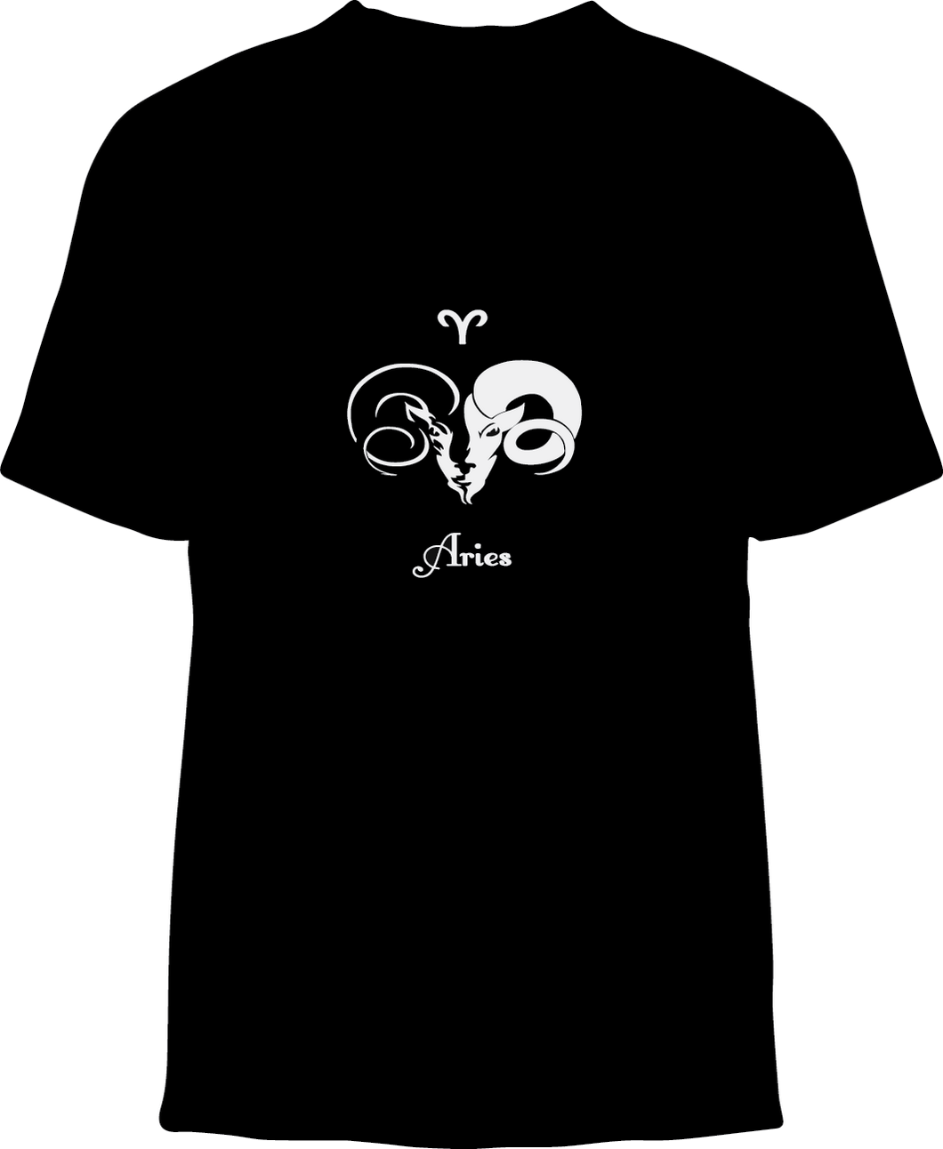 Skelebone Short Sleeve T-shirt, Aries Mar 20 - Apr 19 Front