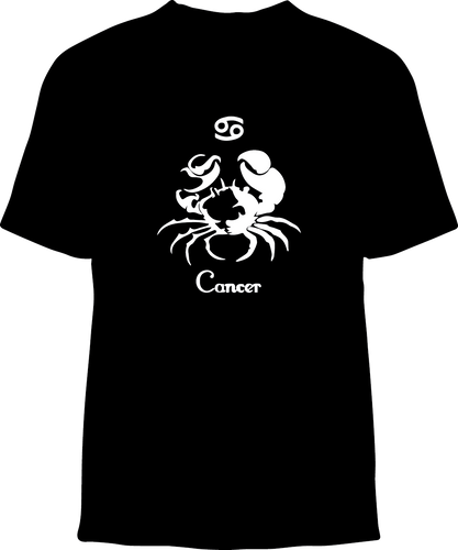 Skelebone Short Sleeve T-shirt, Cancer June 21 - July 22 Front