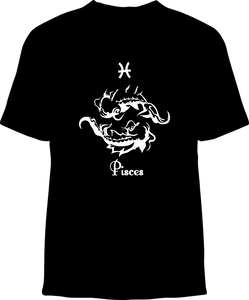 Skelebone Short Sleeve T-shirt, Pisces Feb 19 - Mar 20 Front Print