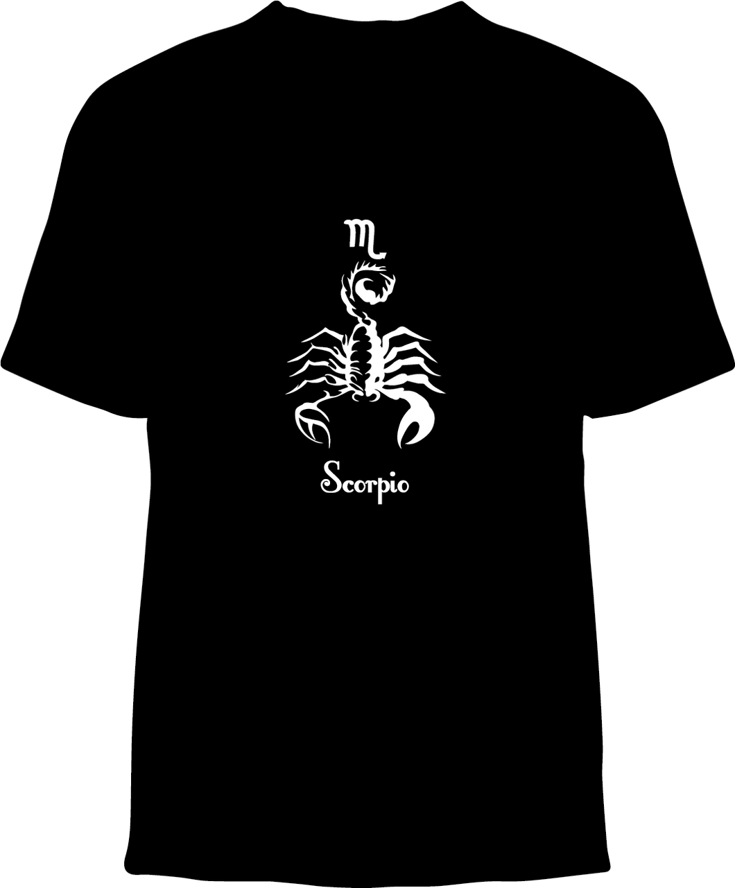 Skelebone Short Sleeve T-shirt, Scorpio Oct 23 - Nov 21 Front Print