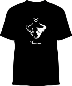 Skelebone Short Sleeve T-shirt, Taurus Apr 20- May 20 Front Print