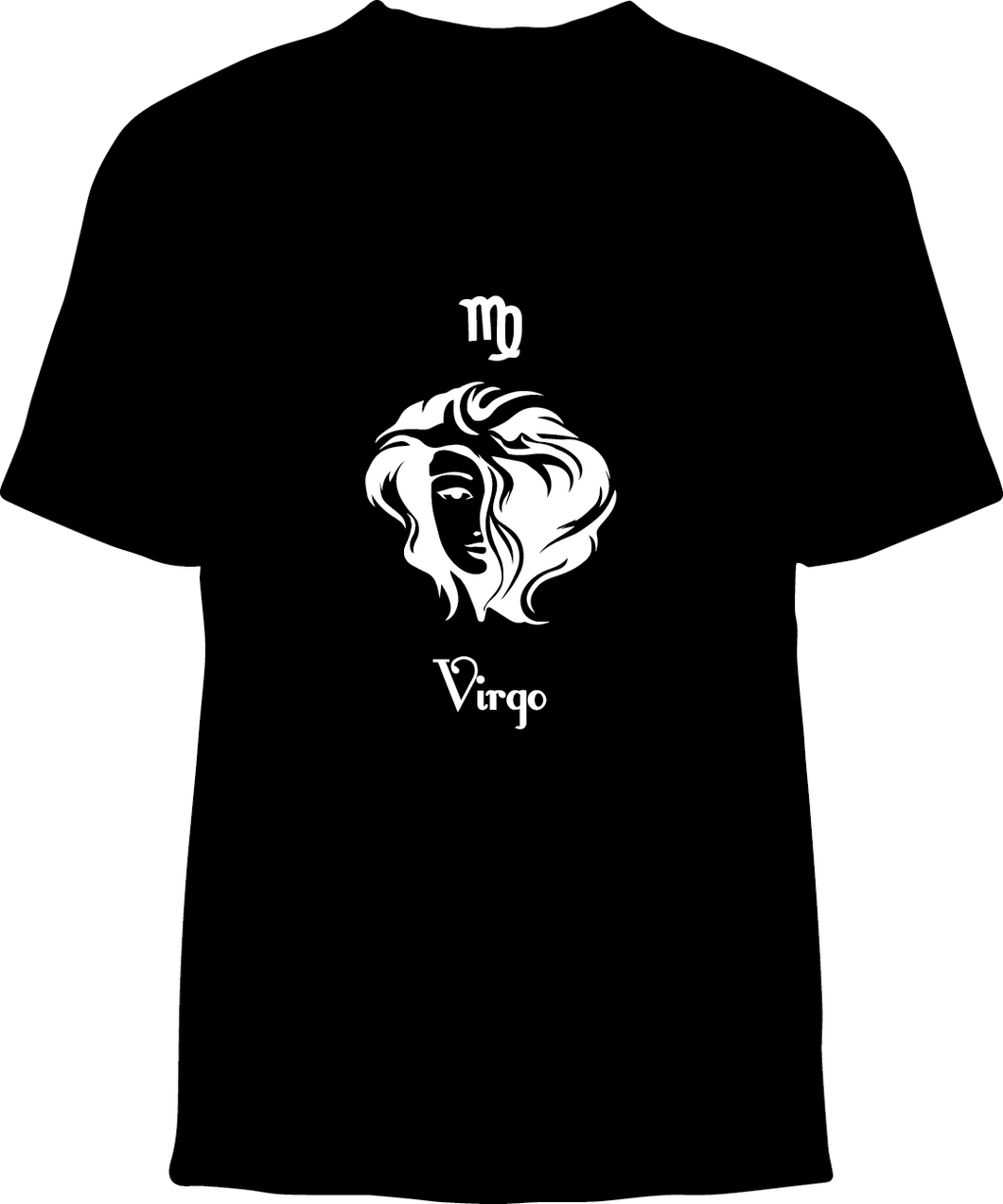 Skelebone Short Sleeve T-shirt, Virgo Aug 23 - Sep 22 Front Print