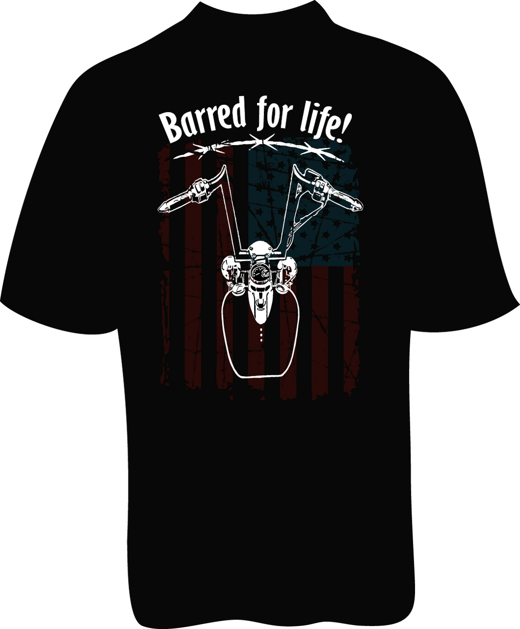 Skelebone Short Sleeve T-shirt, Barred for Life Front Print