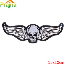1PCS Punk Letter Skull Patch Biker Large Embroidered Flag Patches For Clothes Jeans Big Back Patch Cross Eagle Vest