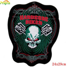 16 Designs Punk Skull Patch Rock Cheap Large Embroidered Band Patches For Clothes Big Motorcylce Back Patch Biker Dragon Wolf