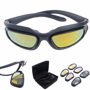 Polarized Motorcycle Lens Sun Glasses Goggles Sports Wrap Riding Running Cycling Biker Windproof