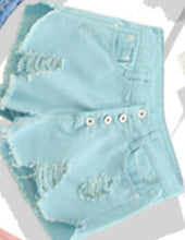 Denim Women Sexy Shorts  Summer Hole Destroyed Shorts Jeans 4 Color High Waisted Jeans Short