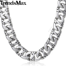 Biker Mens Long Necklace Stainless Steel Chain HN01