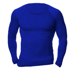 Mens Muscle Pullover Slim Fit Crew Neck Top Long Sleeves Men Tees Shirt 4XL
