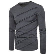 Mens Cotton Basic Casual T Shirts Long Sleeve Slim Fit Men Solid Color Pullover
