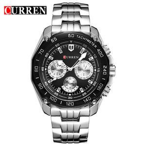Curren Brand Fashion Quartz Watch Men's Casual waterproof Military Army Wristwatch Full steel Watch