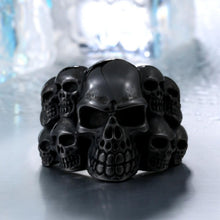 BEIER Fashion Stainless Steel Man's Rings From China Biker Punk Lots Of Skull Jewerly BR8-079 free shipping