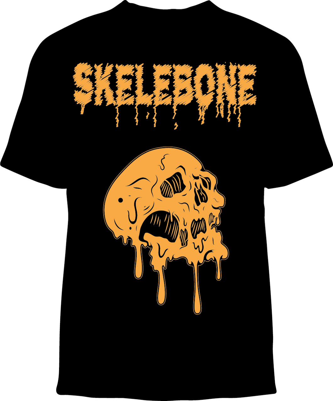 Skelebone Short Sleeve T-shirt, Melting skull