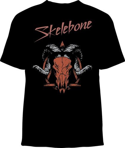 Skelebone Short Sleeve T-shirt, Ram Skull