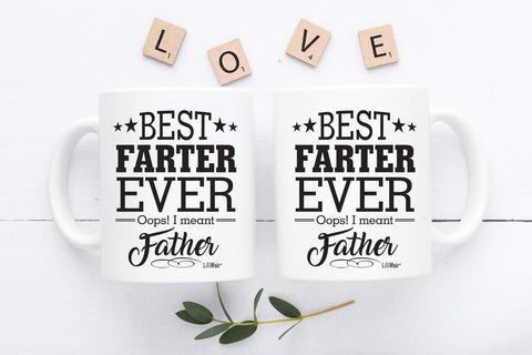 Fathers Day Gifts, Dad Gifts From Daughter Son, Dad Birthday Gift, Dad Coffee Mug, World's Best Farter I Mean Father, Funny Christmas Father Mugs, Top Best Daddy Stepdad Bonus Step Dad's Presents Cup.