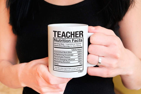 Image of Teacher Nutrition Facts Coffee Mug