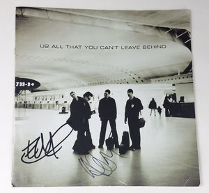 U2 Edge Adam Autographed Signed LP Record Album Sleeve