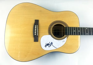 Willie Nelson Autographed Signed Acoustic Guitar
