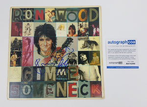 Rolling Stones Ronnie Wood Autographed Signed Record Album LP