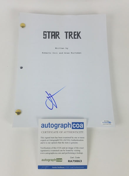 Star Trek J.J. Abrams Autographed Signed Screenplay Script