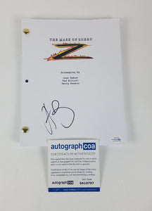 Mask of Zorro Antonio Banderas Autographed Signed Screenplay Script